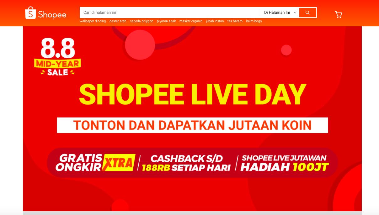 Shopee Indonesia website