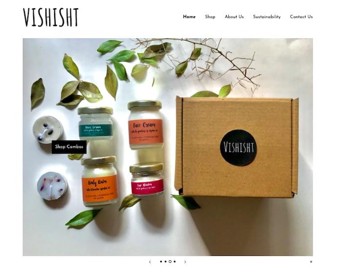 Vishist Lifestyle website