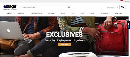 eBags website