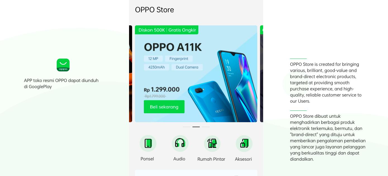 Oppo Indonesia website