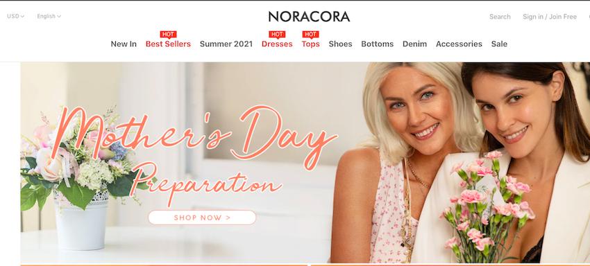 Noracora website