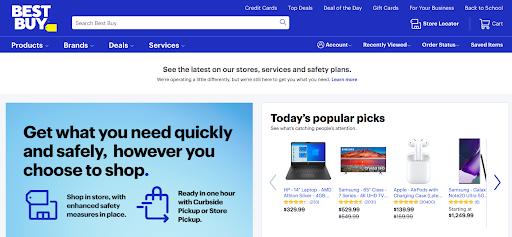 Best Buy US website