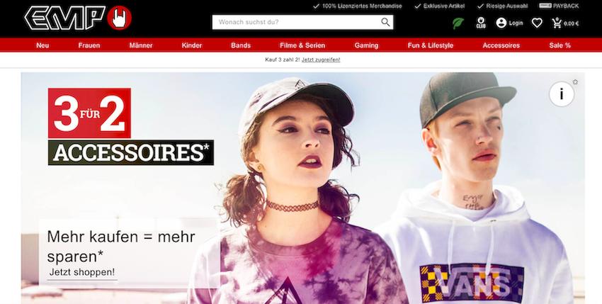 EMP Store website