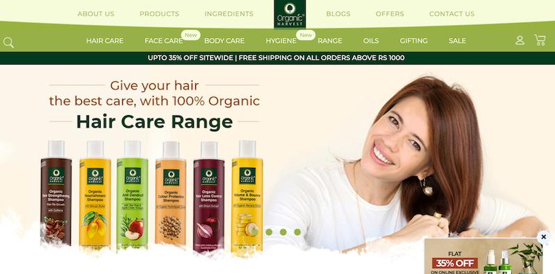 Organic Harvest website