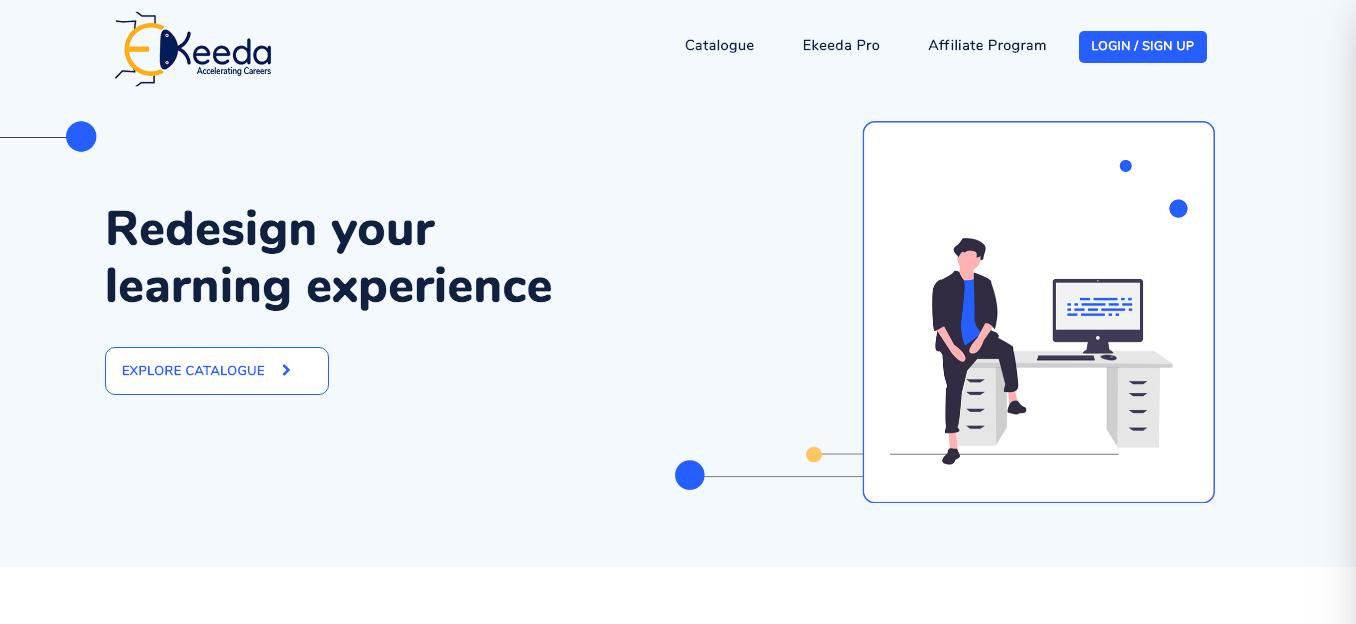 Ekeeda website