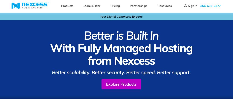 Nexcess website