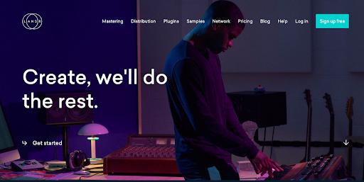 LANDR website