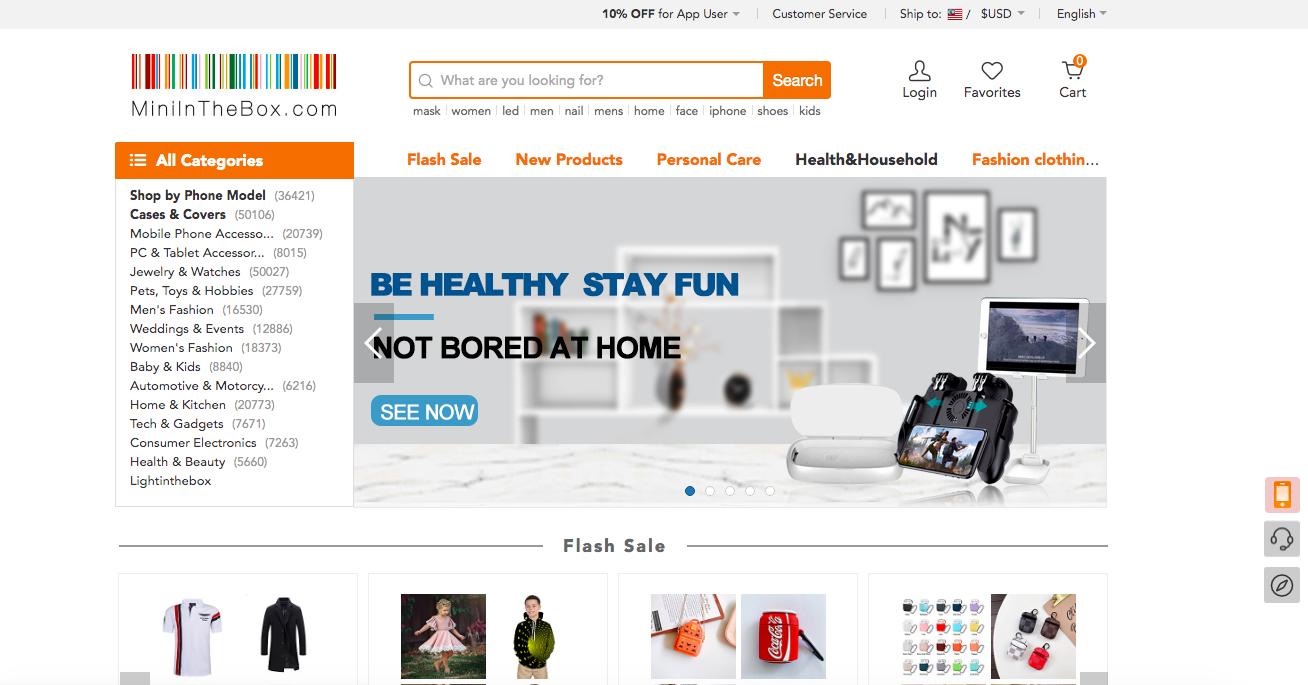 Miniinthebox website