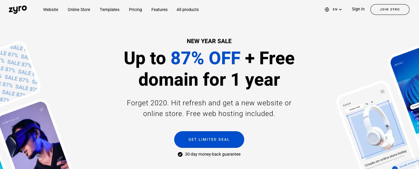 Zyro website