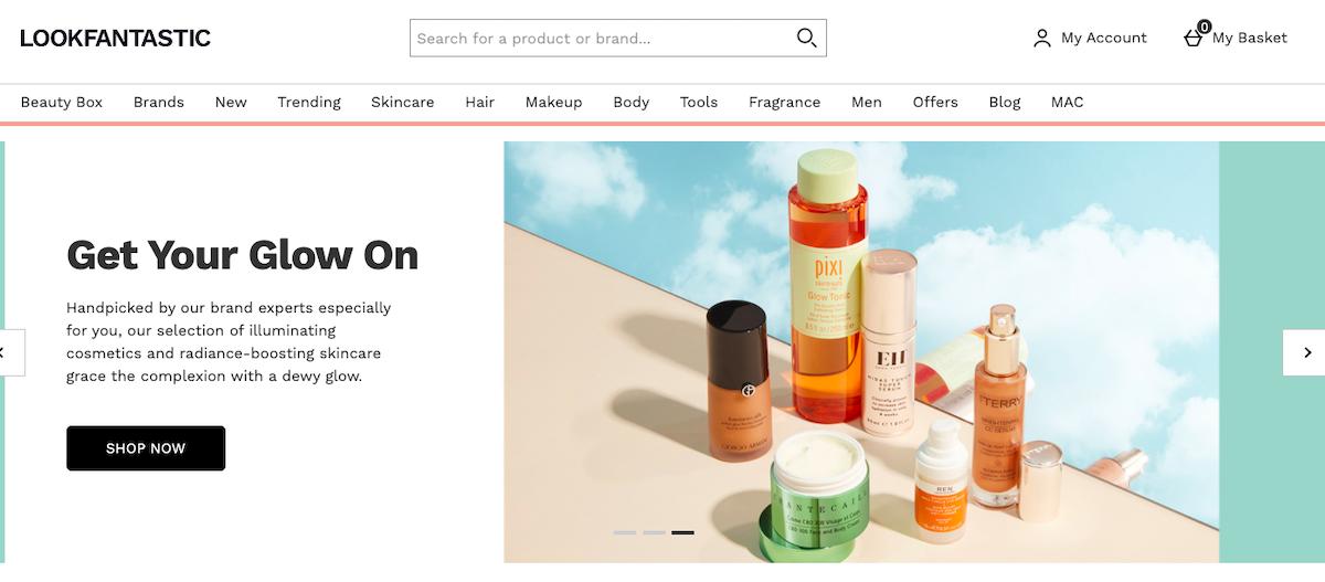 LookFantastic website