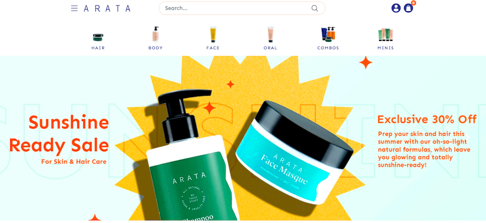 Arata India website