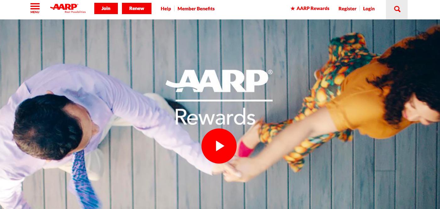AARP Rewards website
