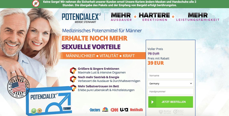 Potencialex website