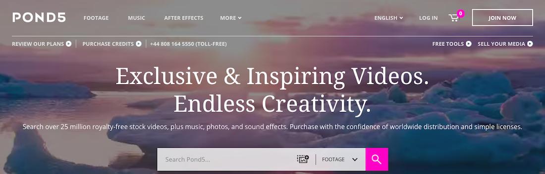Pond5 website