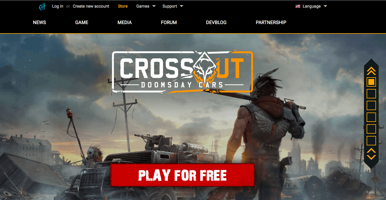 Crossout website