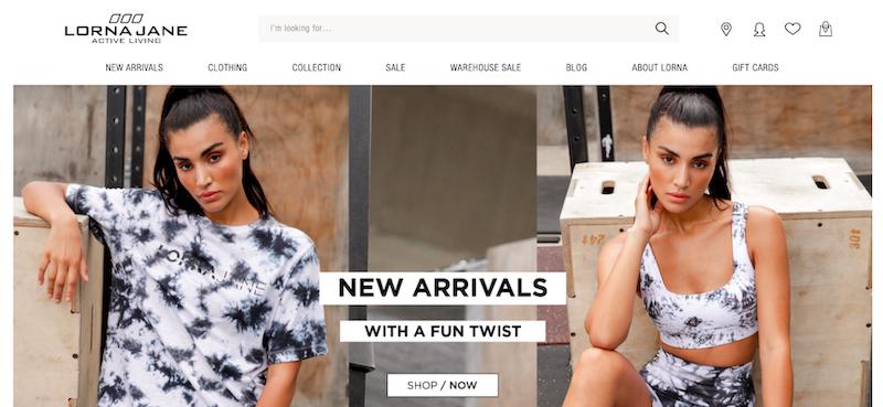 Lorna Jane website