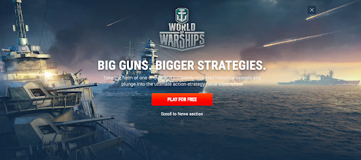 World of Warships website