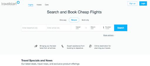 Travelstart website