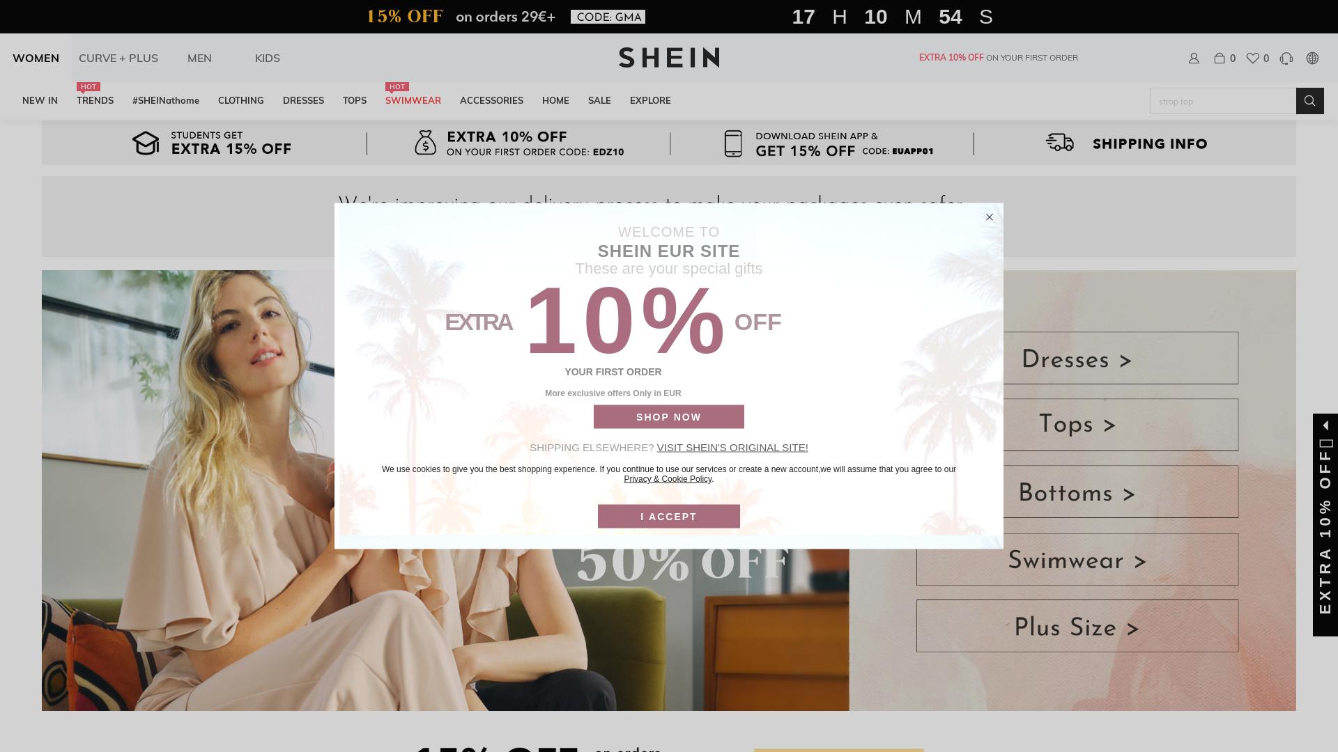 Shein / CPS website