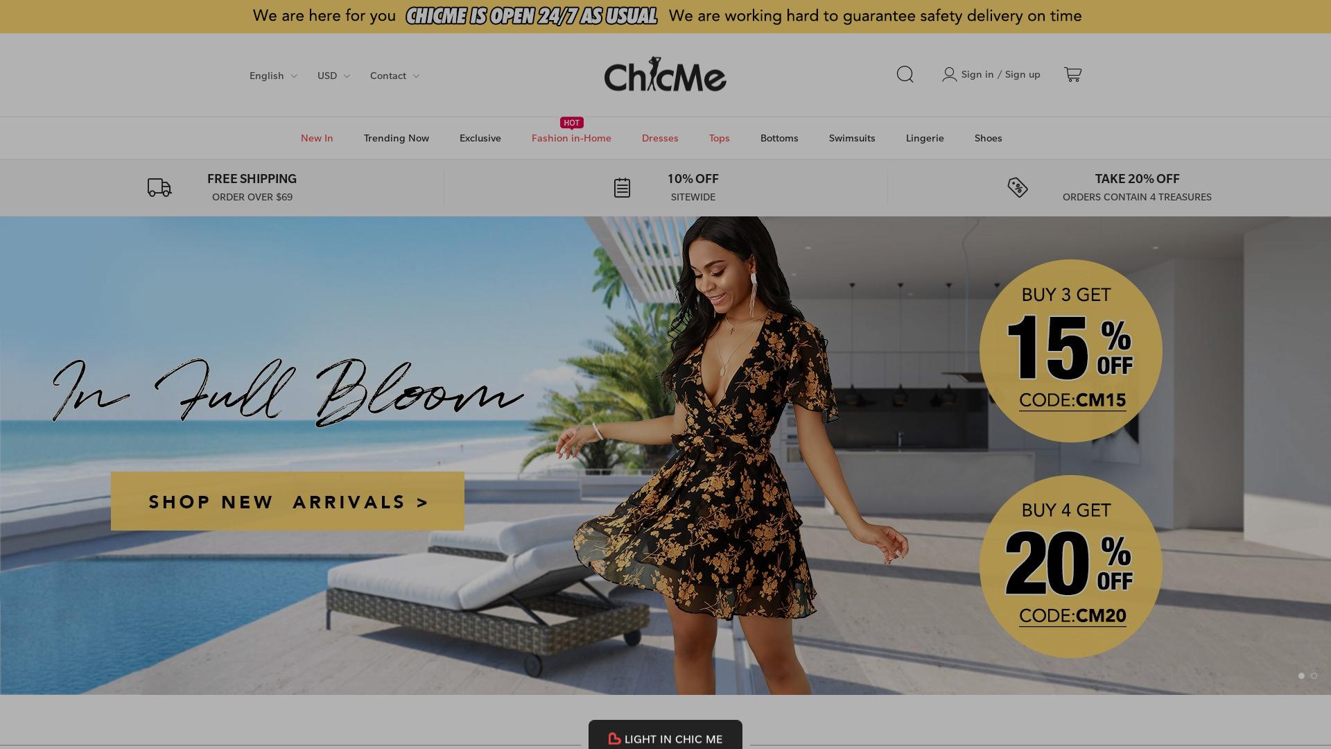 Chic Me - World website