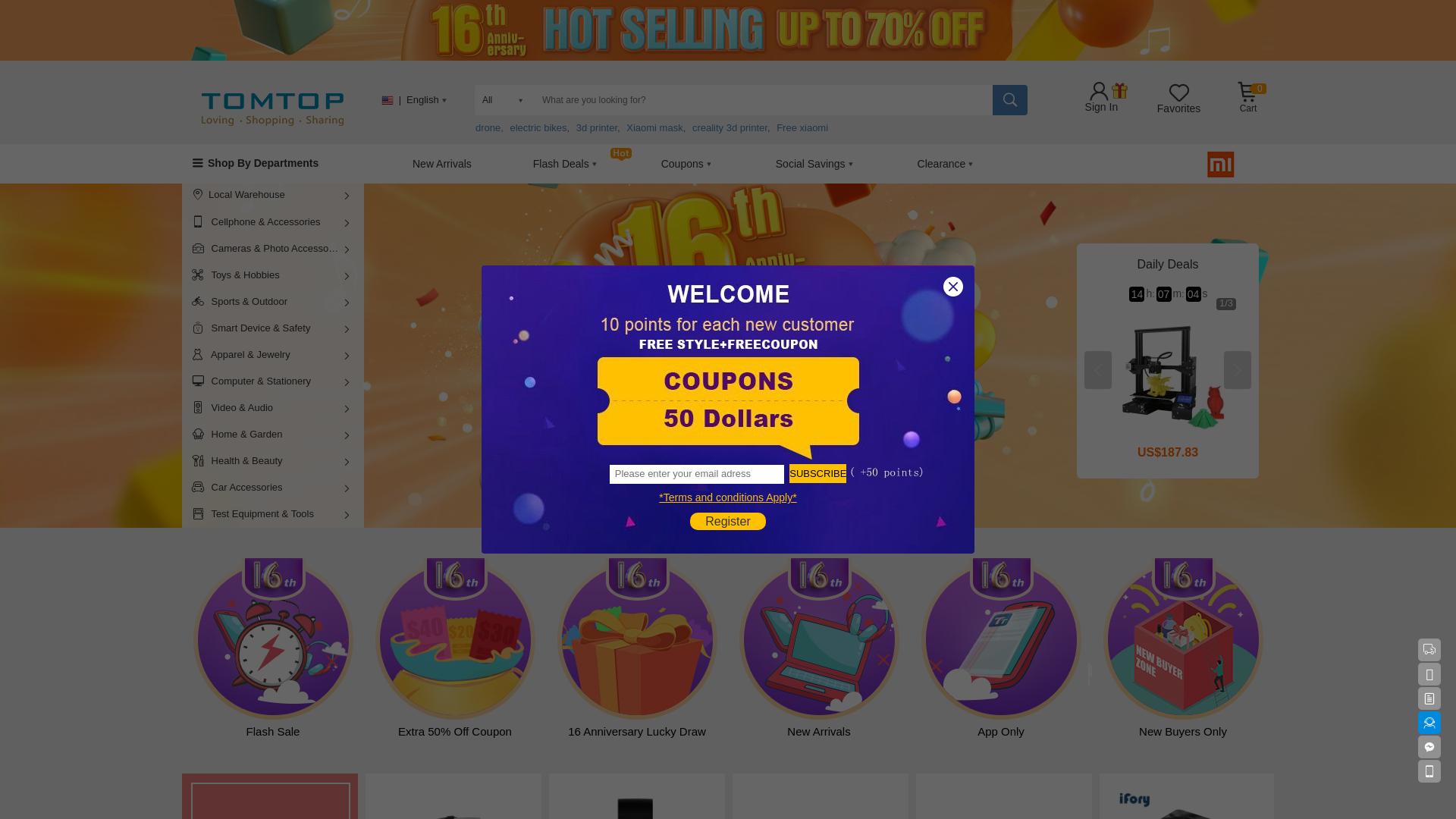 Tomtop.com - World website