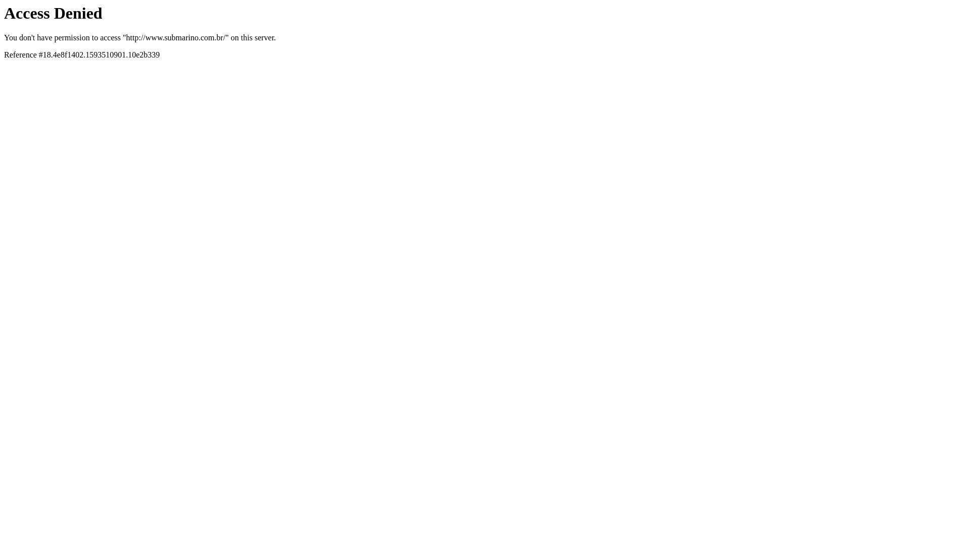 Submarino Brasil website