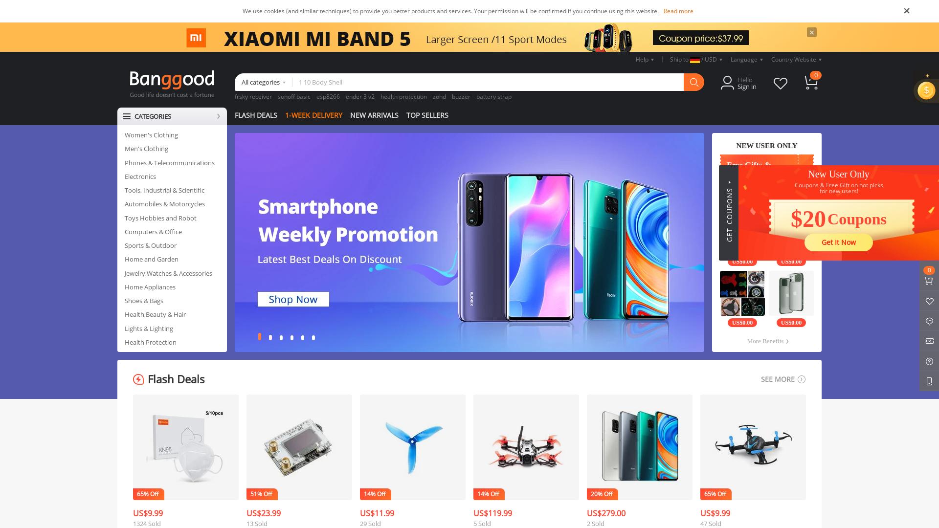 Banggood.com - World website