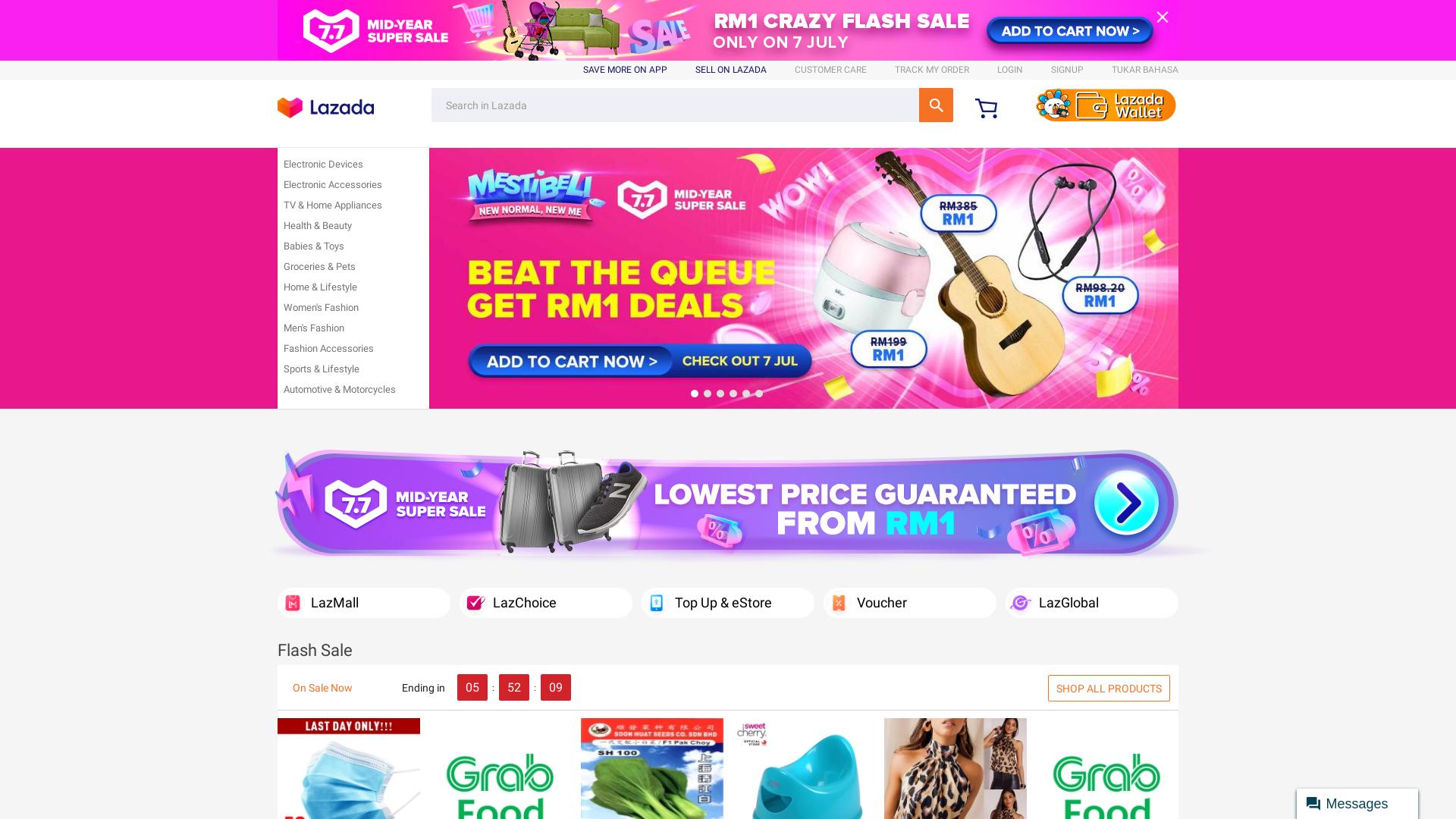 Lazada Malaysia website