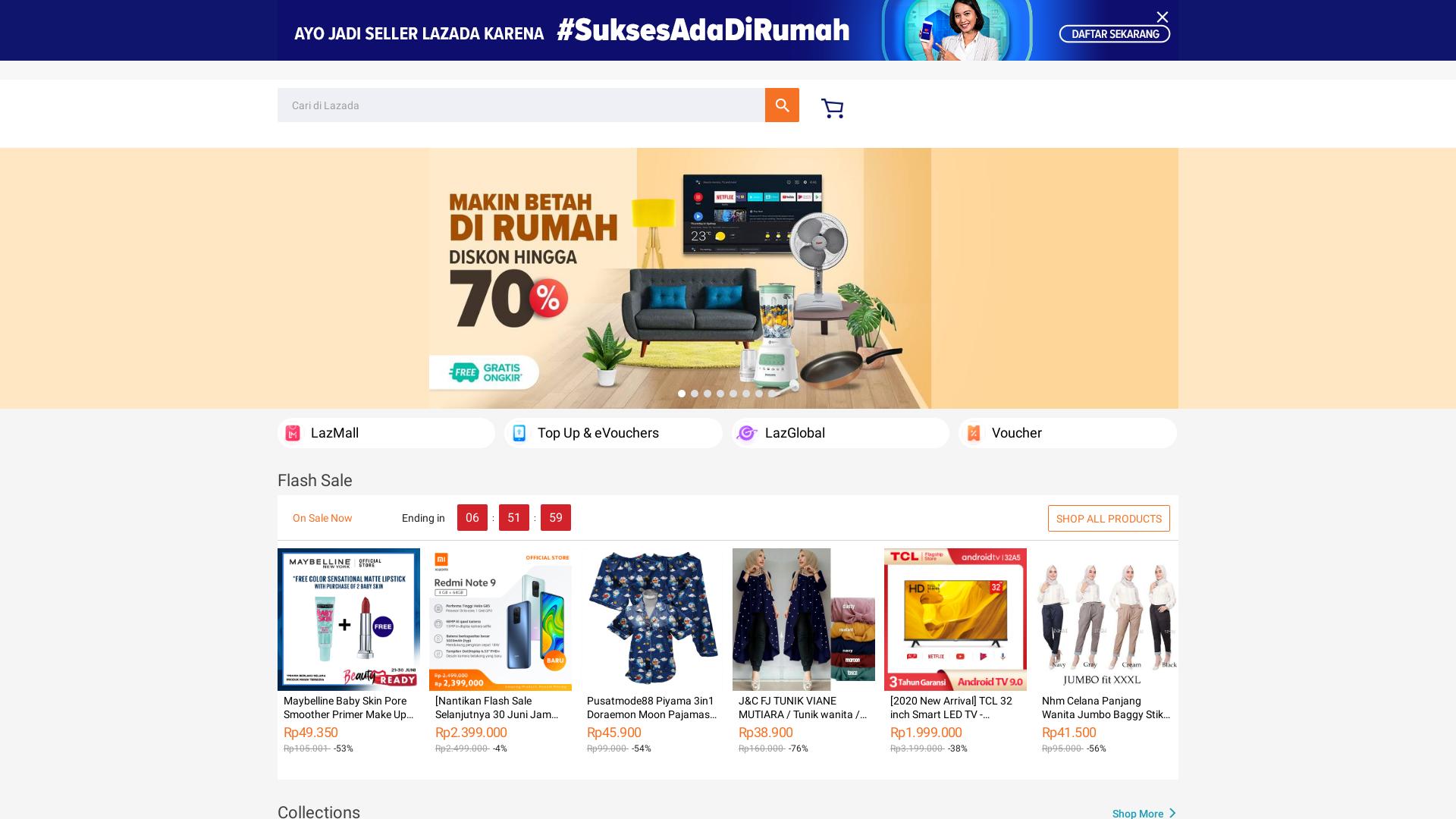 Lazada Indonesia website