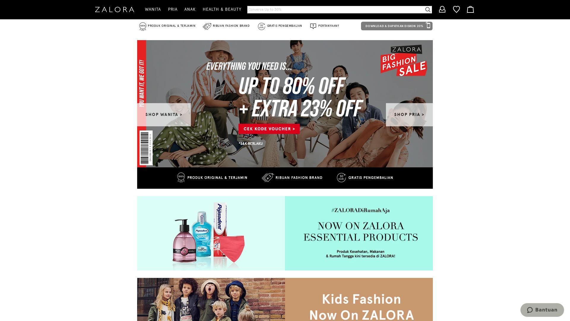 Zalora Indonesia website