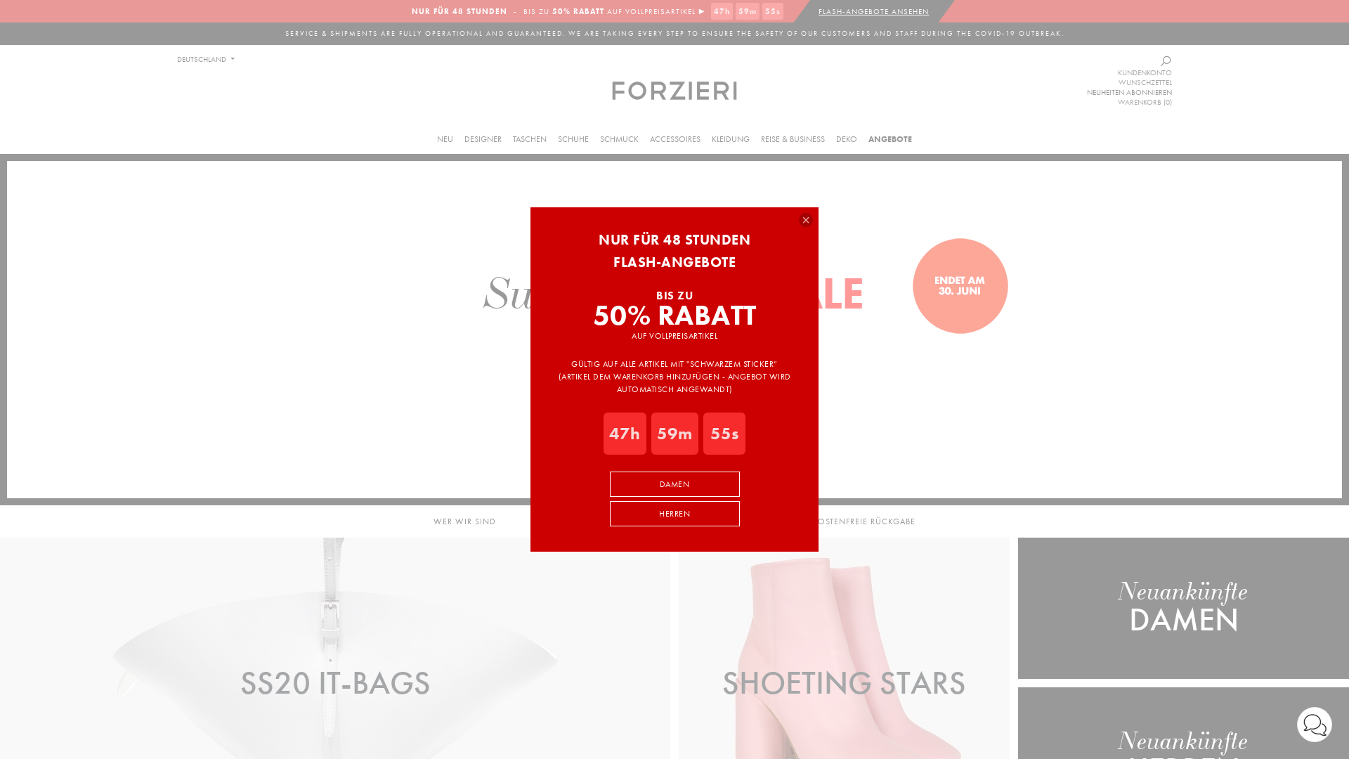 Forzieri / CPS website