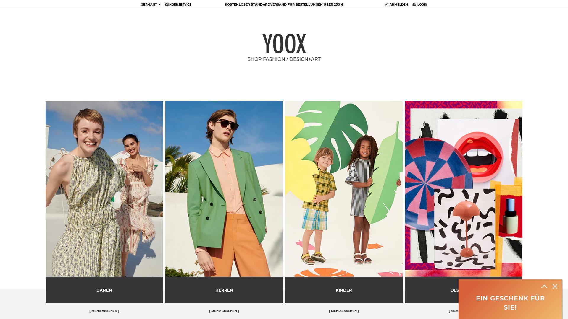 Yoox website
