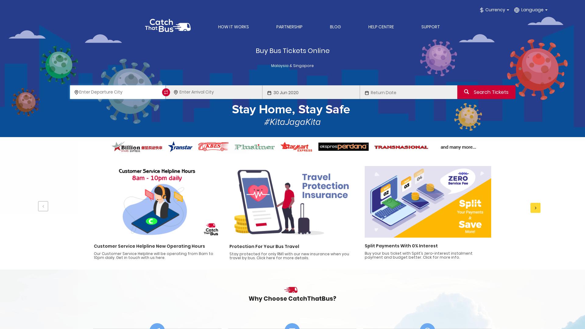 CatchThatBus website