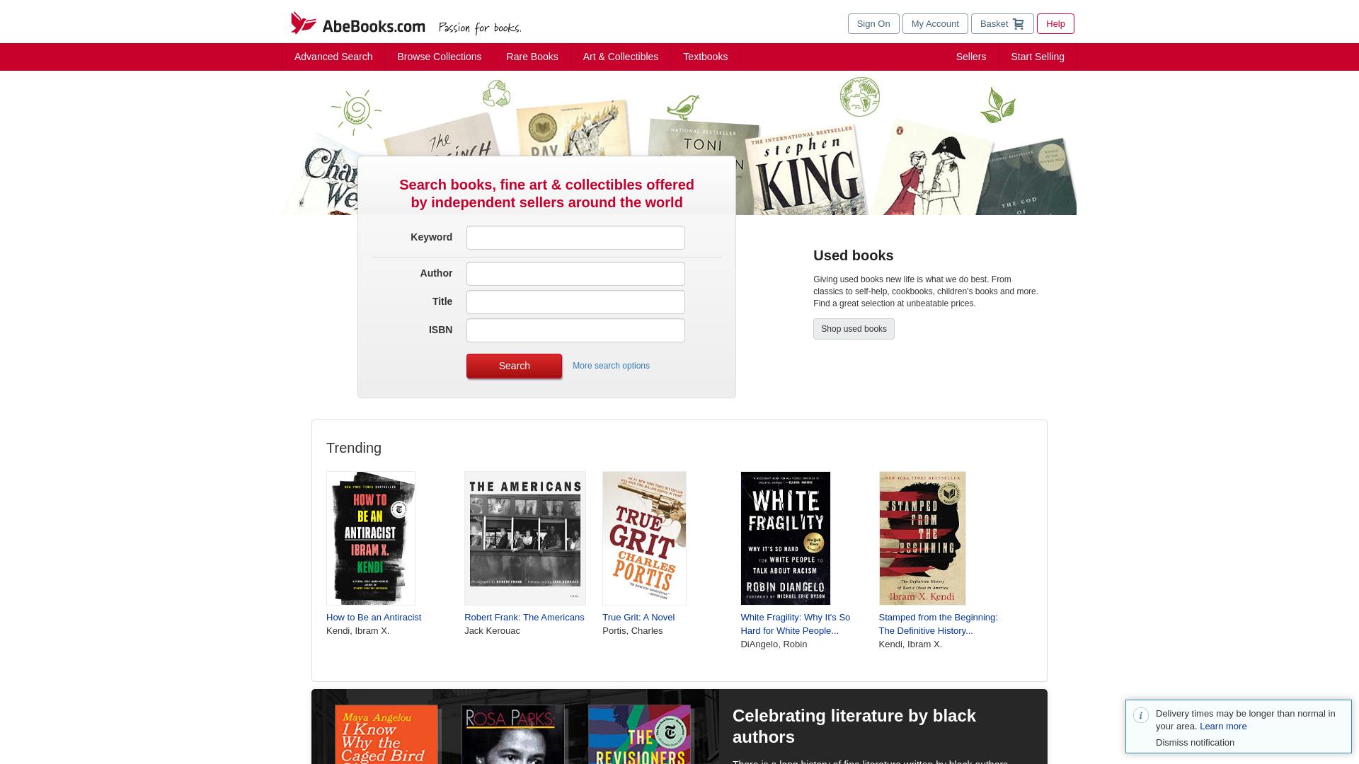 AbeBooks website