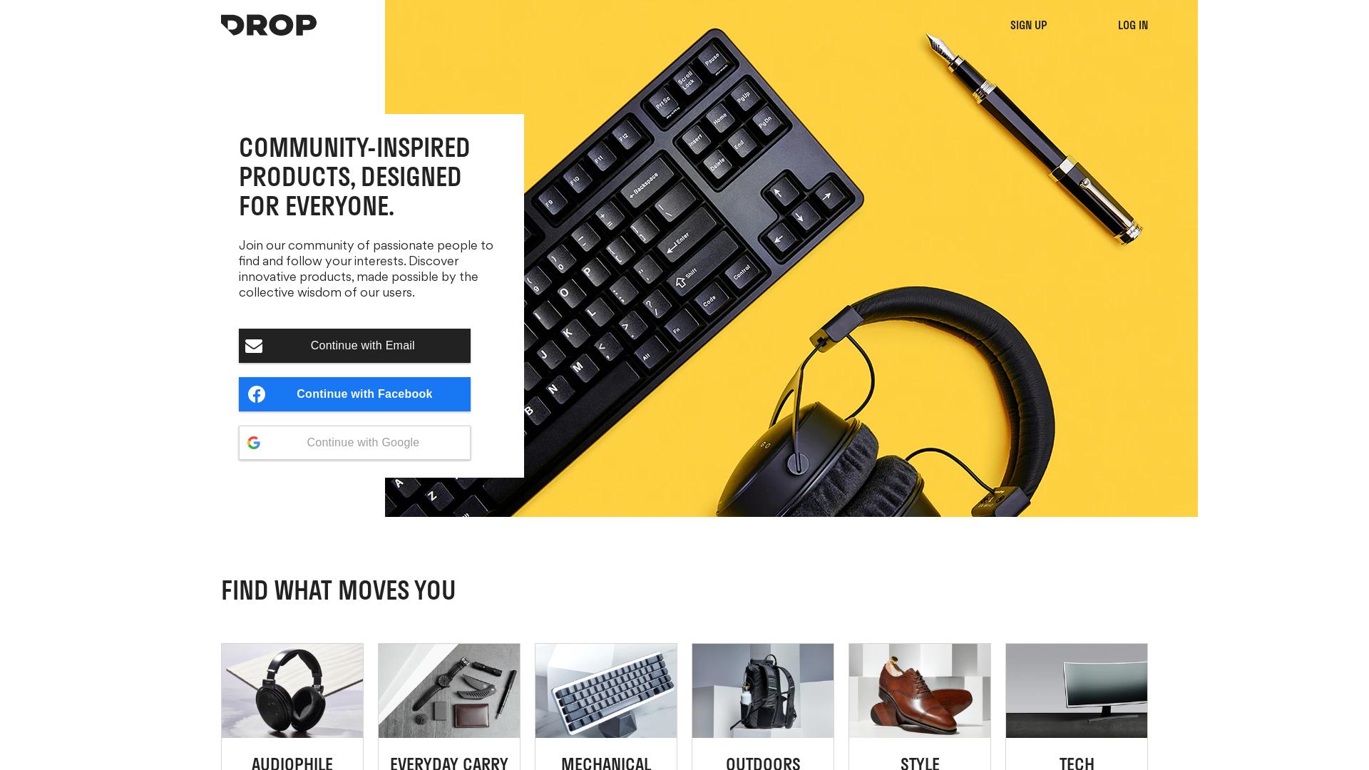 Drop / CPS website