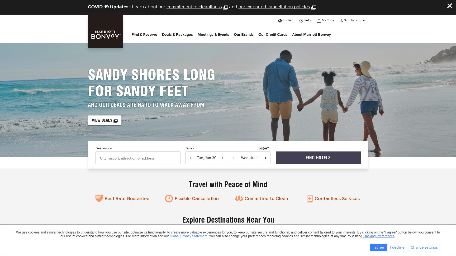 Marriott International website