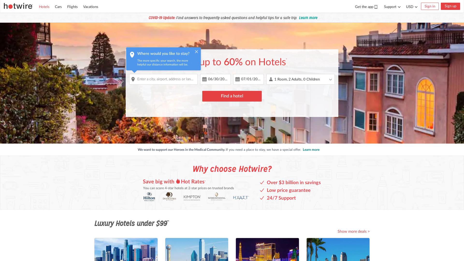 Hotwire / CPS website