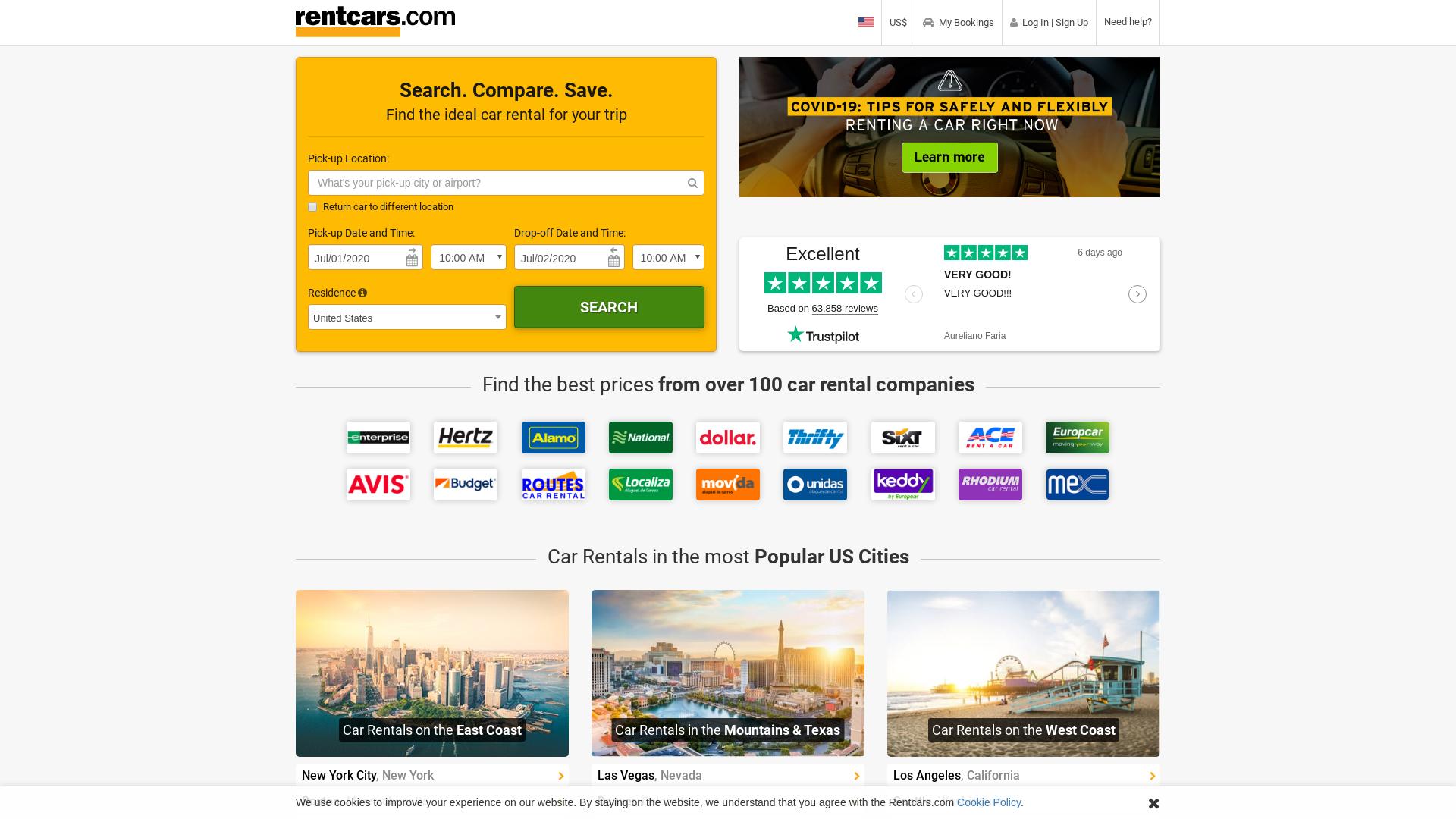 Rentcars.com website