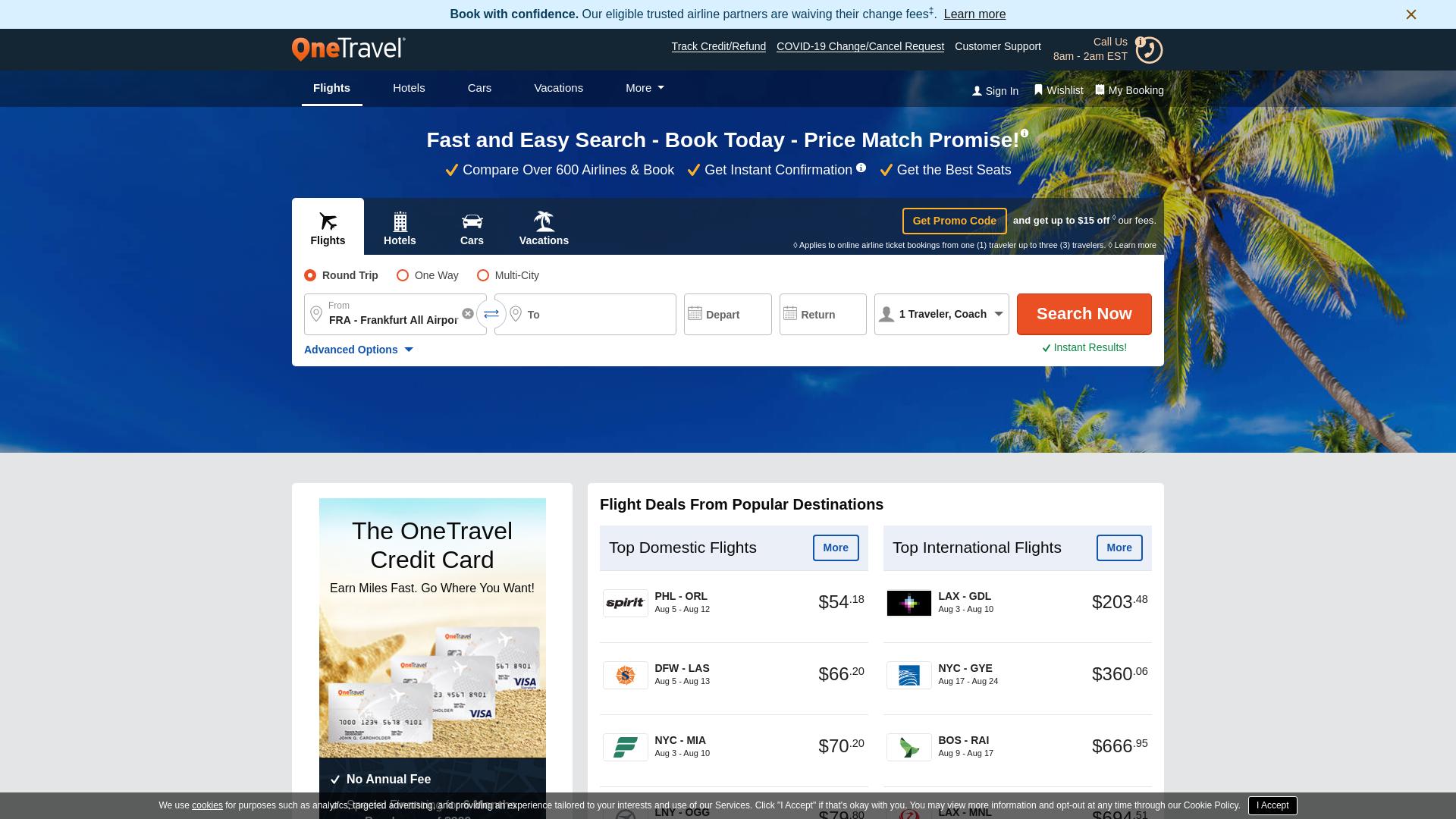 OneTravel.com website