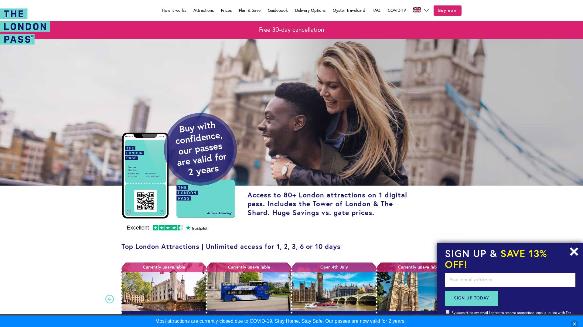 London Explorer website