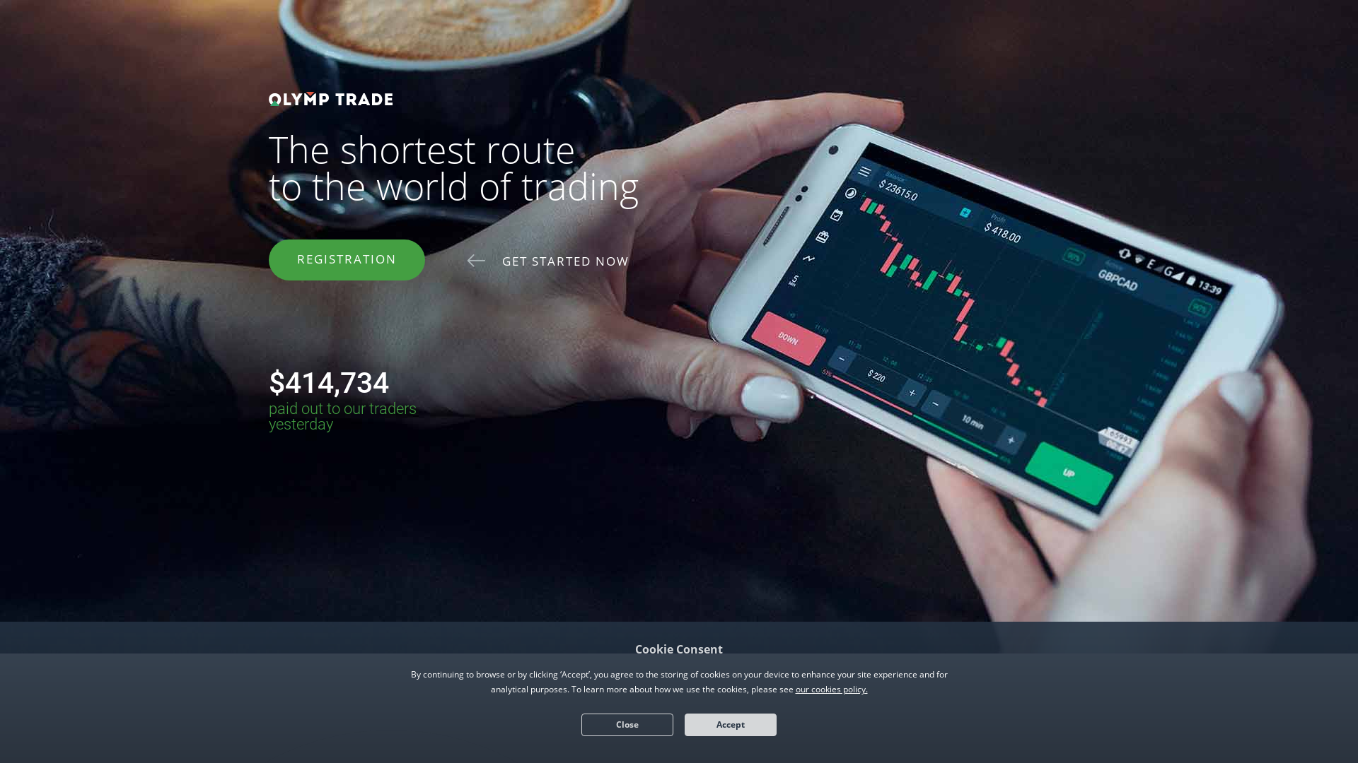 Olymp Trade website