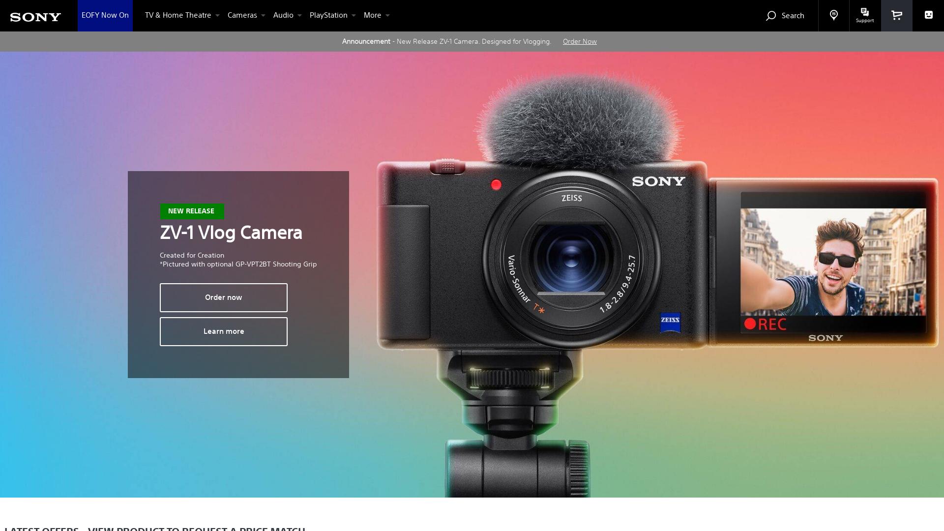 Sony AU website