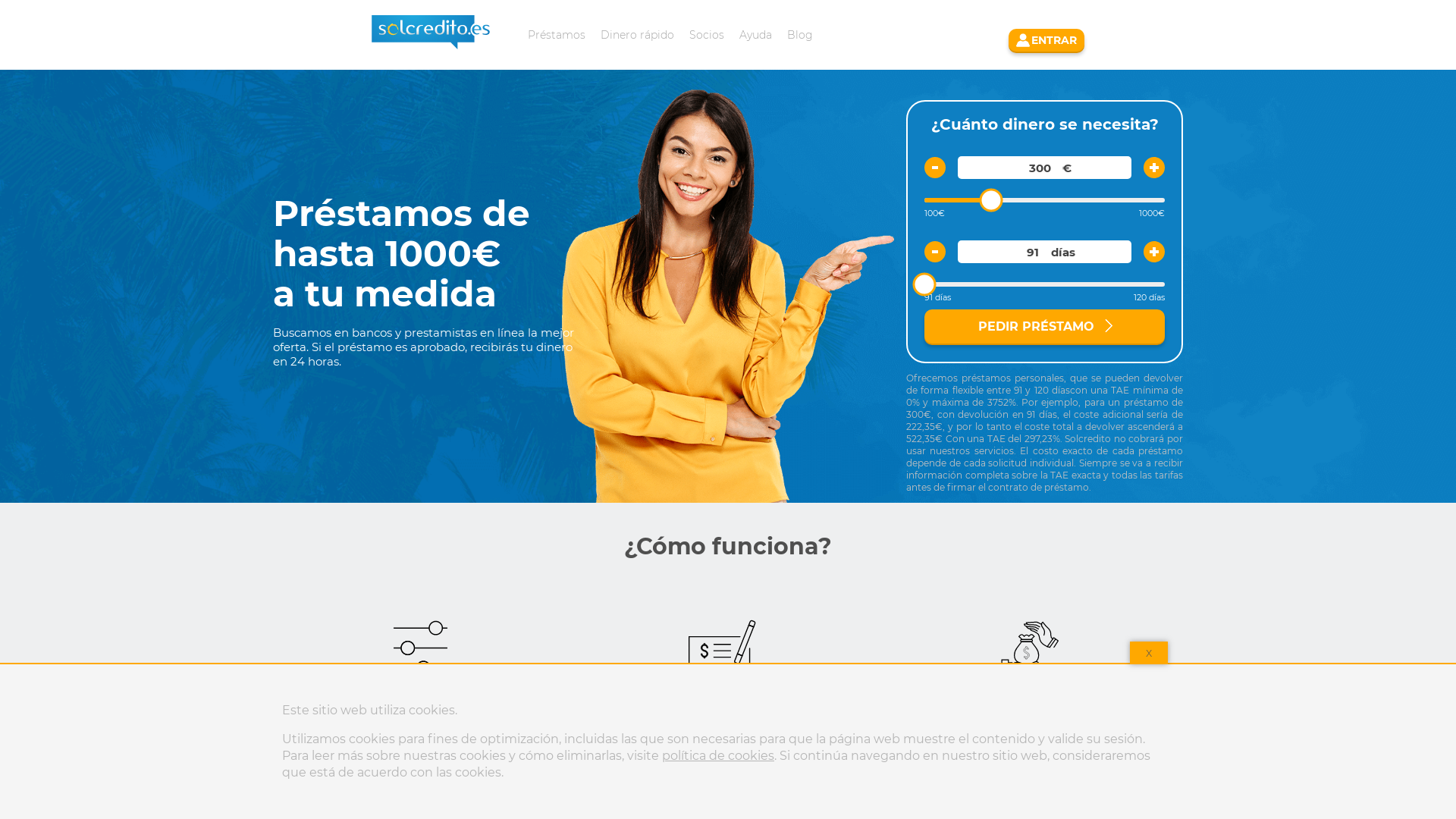 Solcredito Loans website