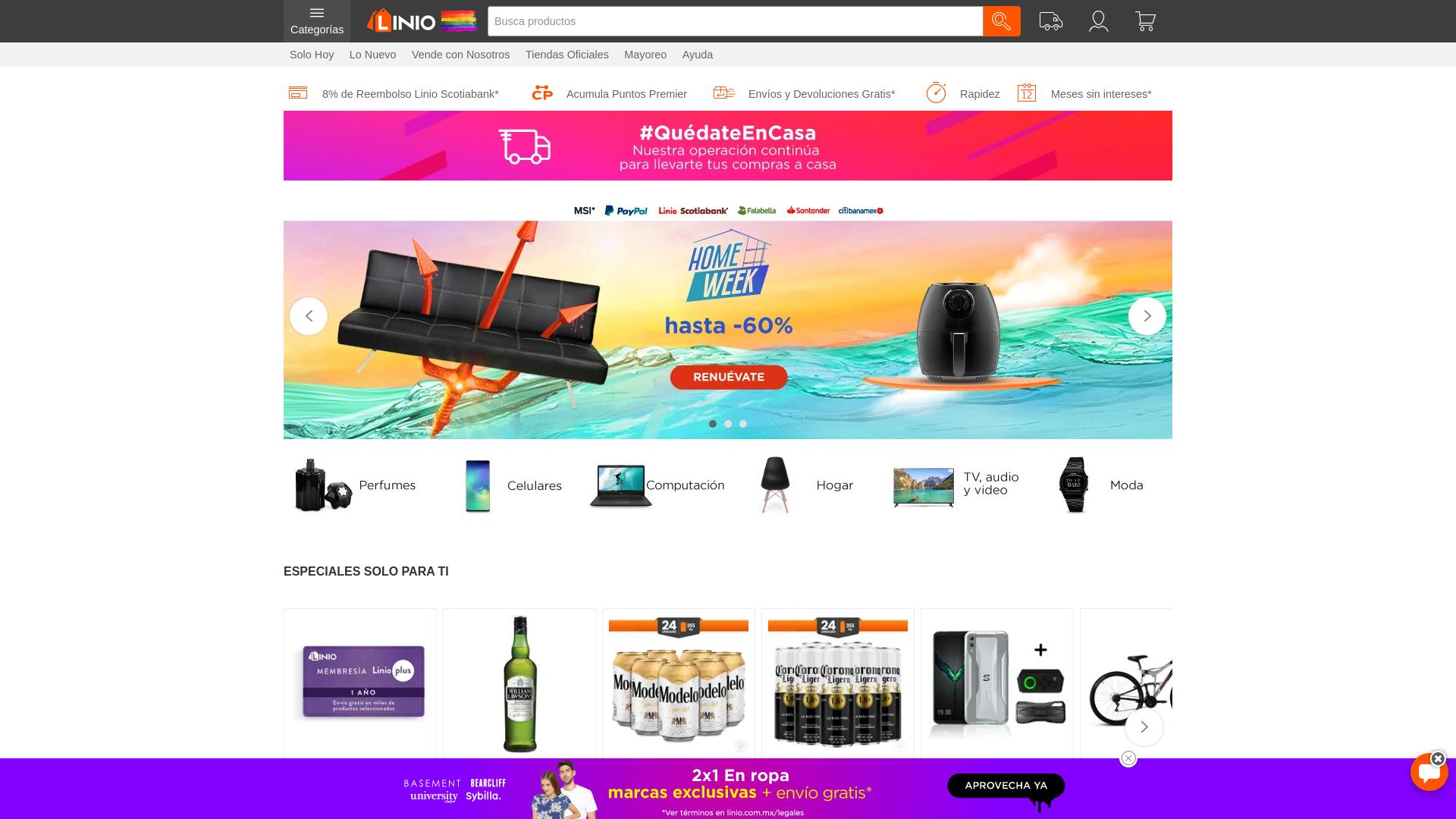 Linio Mexico website