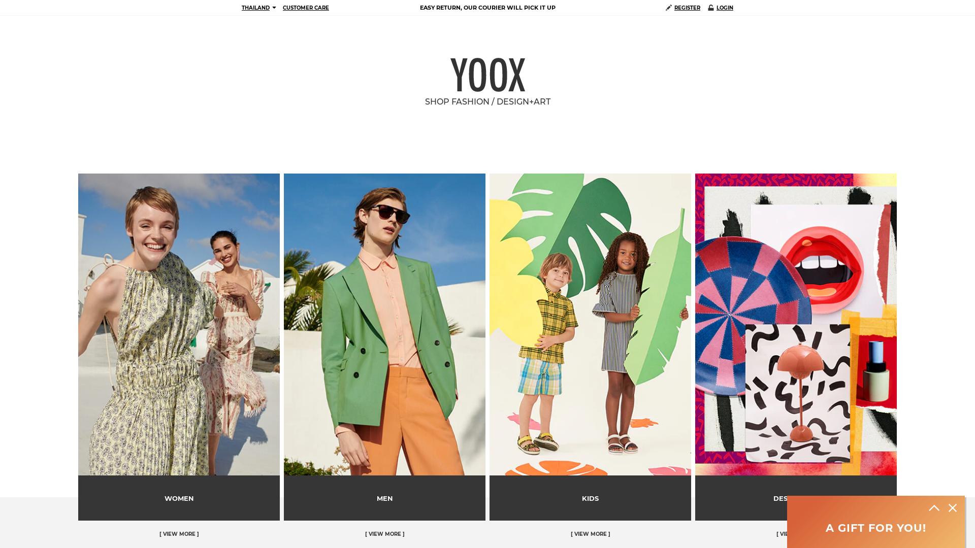 Yoox Many GEOs website