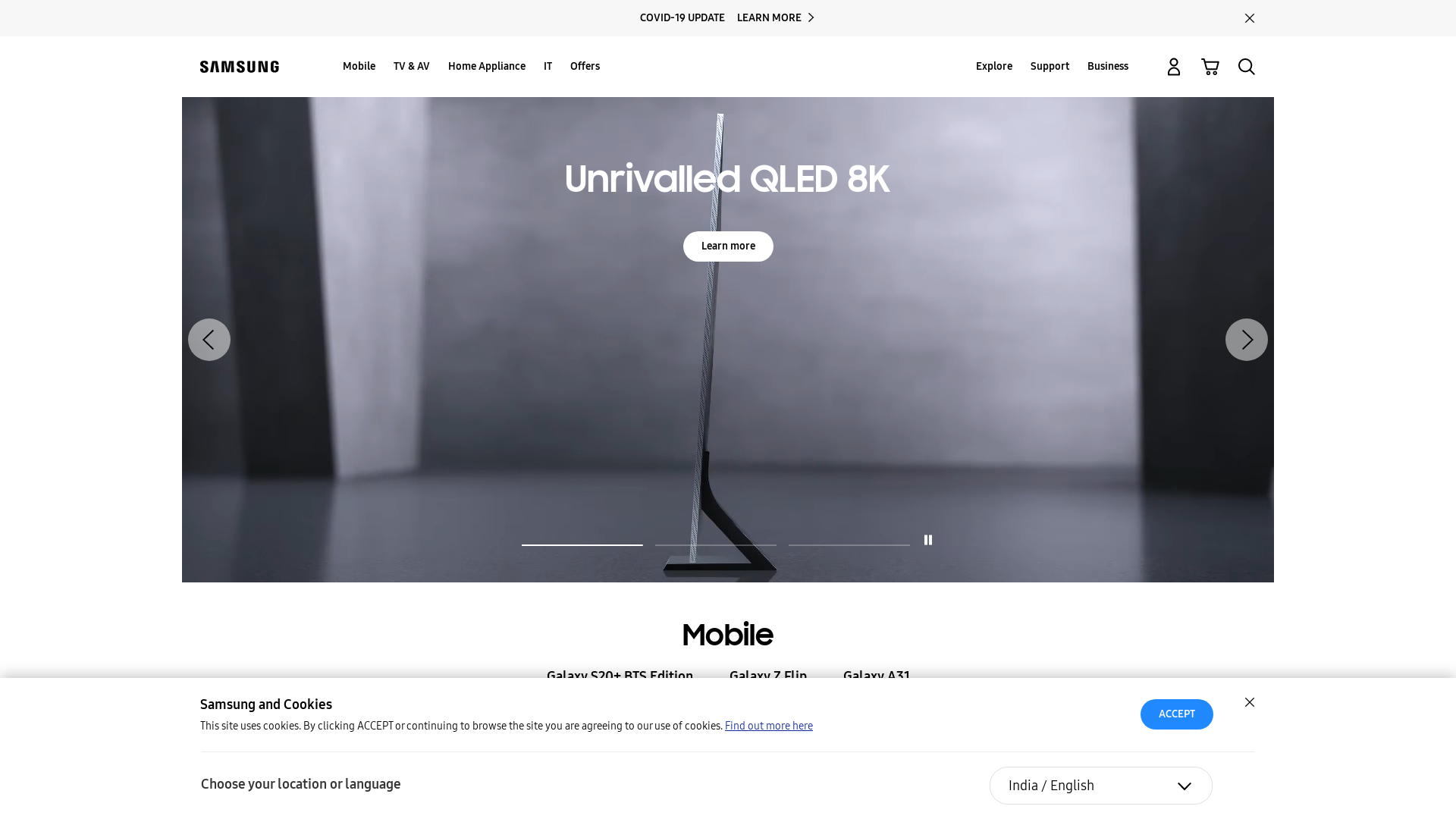 Samsung [CPS] IN website
