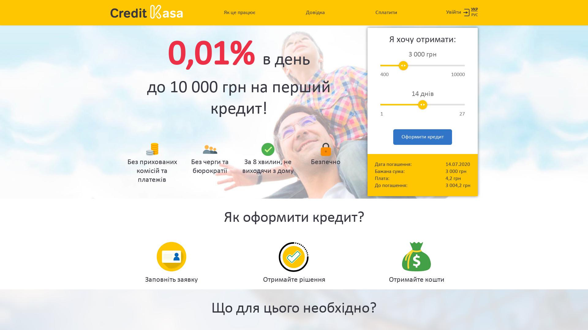 CreditKasa [CPL, CPS] UA website