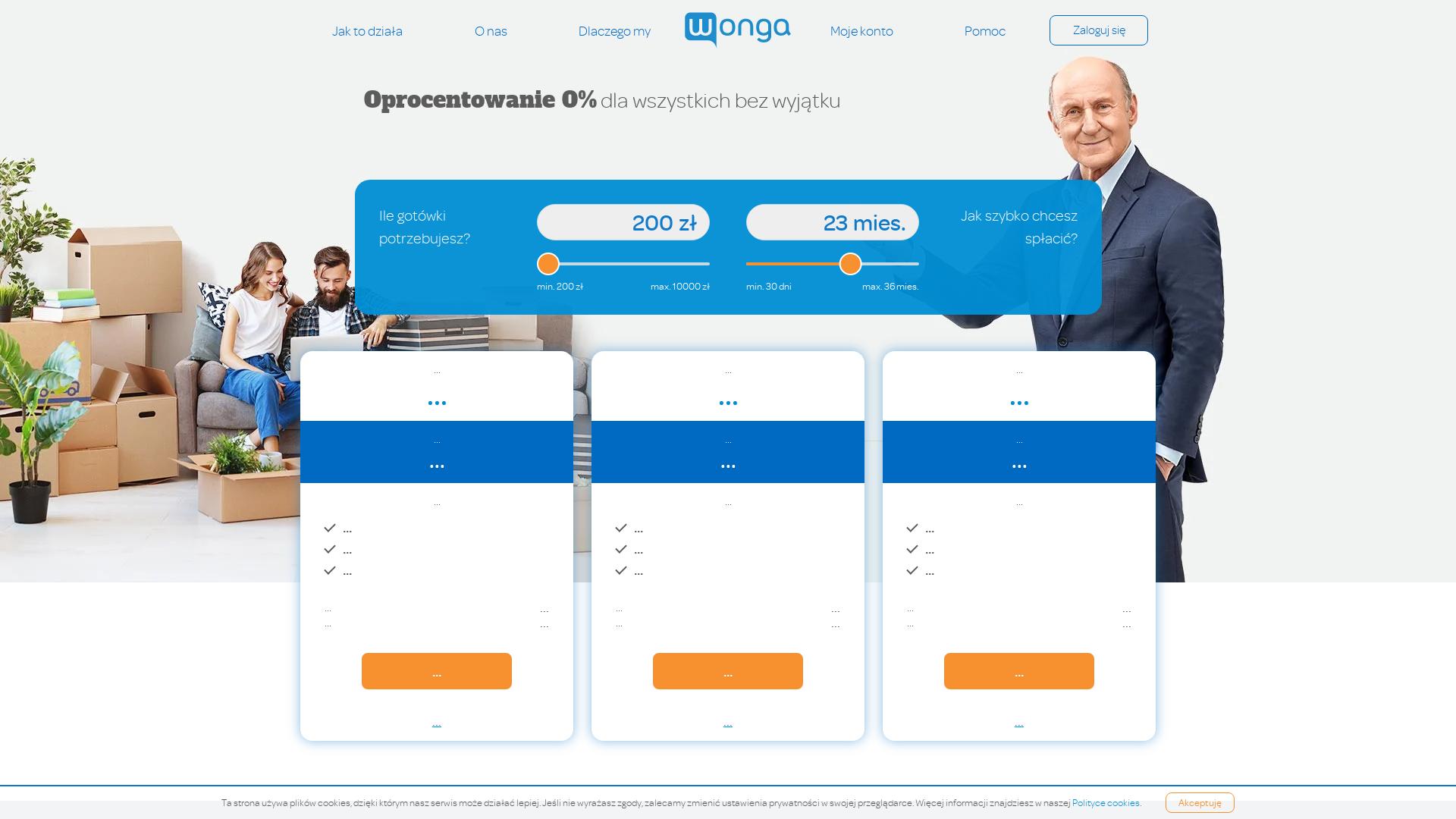 Wonga [CPS] PL website