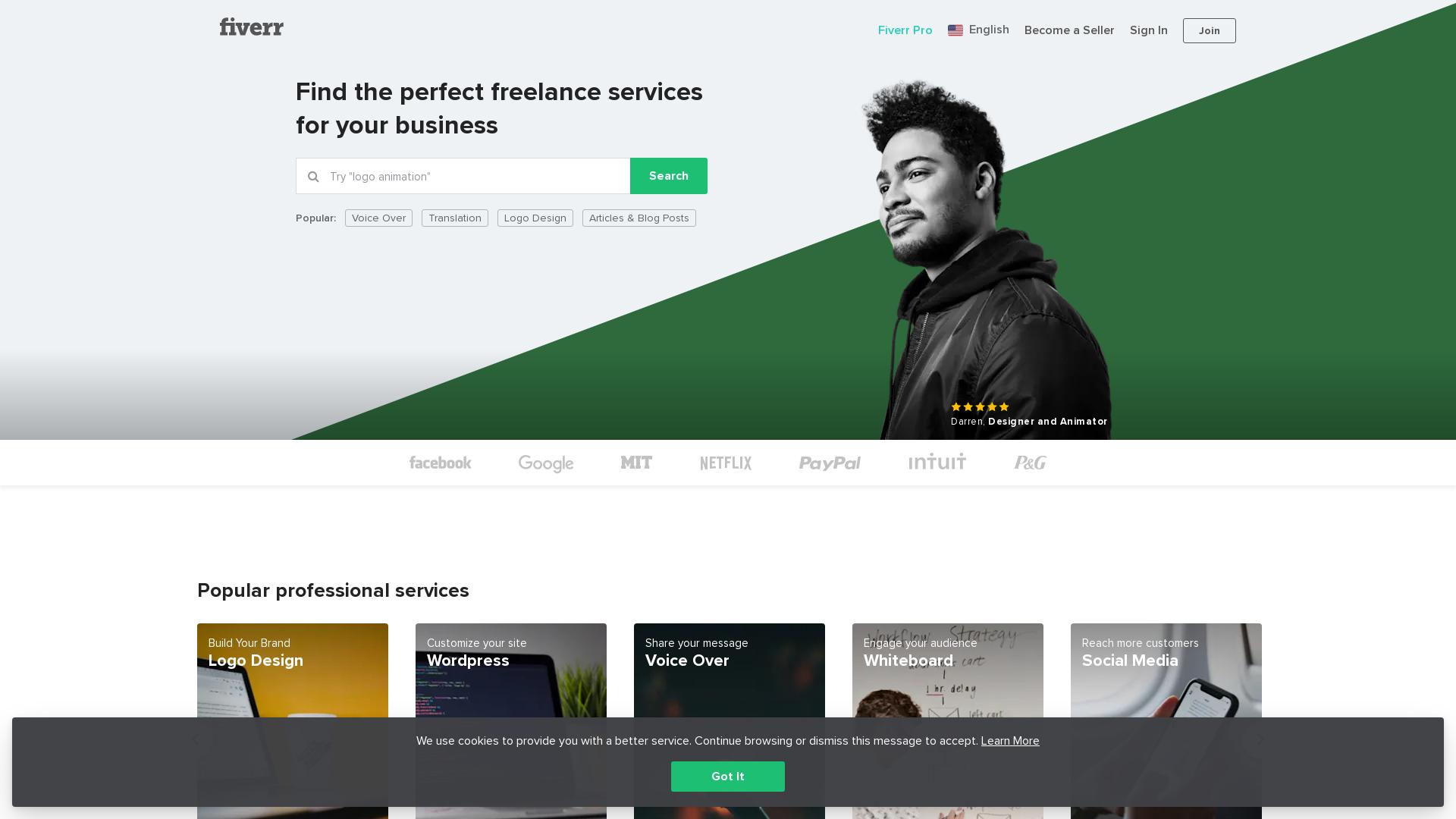 Fiverr Many GEO's website