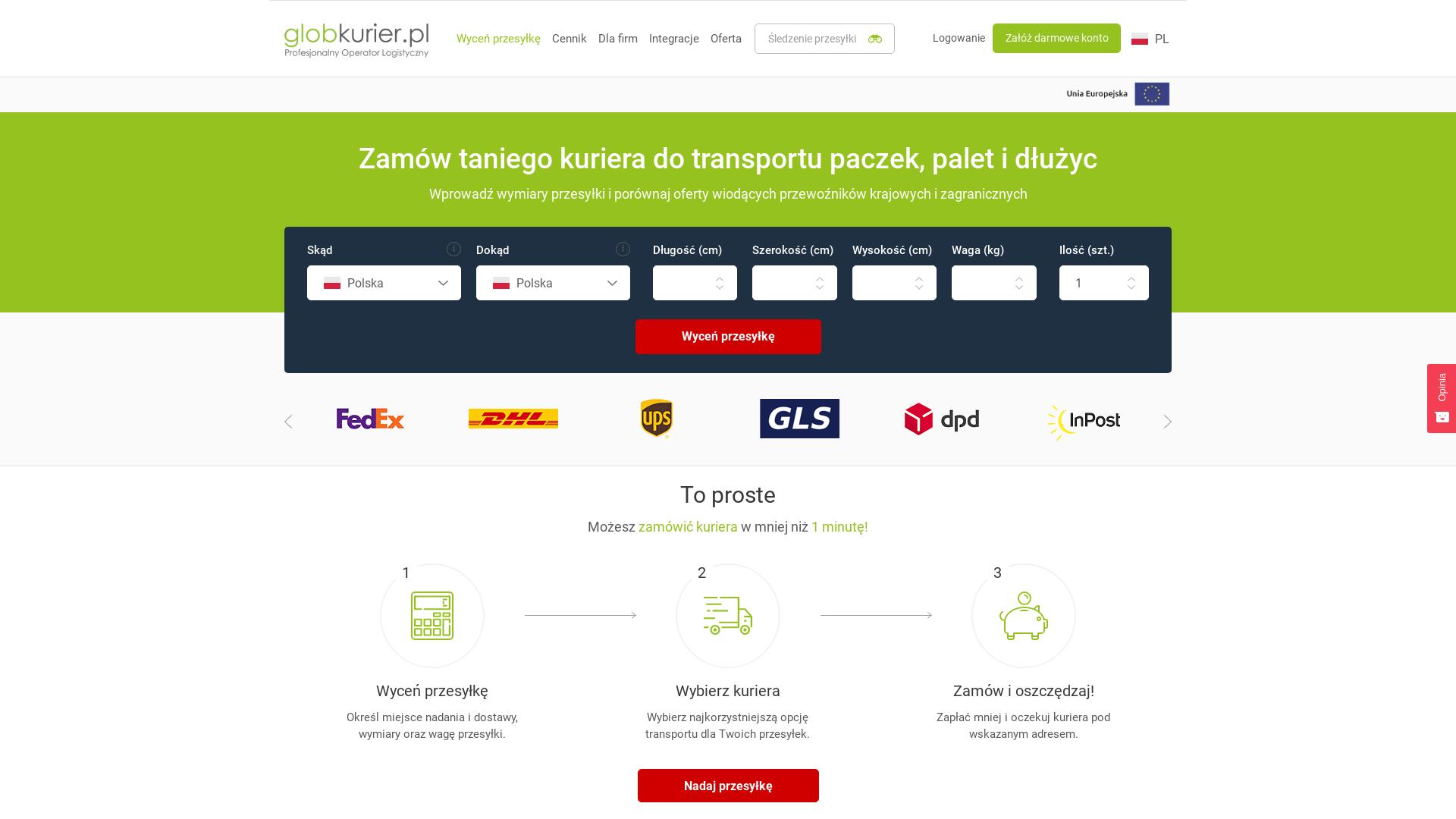 Globkurier [CPS] PL website